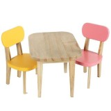 Table And 2 Chairs Pink Yellow