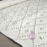Rug Diamond White 70x140