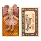 Mouse, Little Sister In Box, Dots And Tulle Skirt