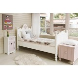 Tims Medallion Bed 140x200 Wit/roze