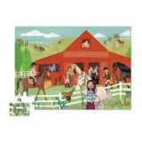 House Shaped Box Puzzle Horse Stable
