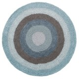 Crochet Floor Mat, Cloud Blue