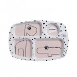 Happy Dots Compartment Plate Powder