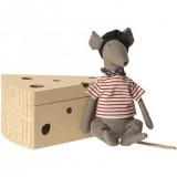 Rat In Cheese Box Grey