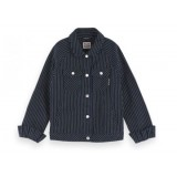 Trucker Jacket With Stripe