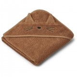 Albert Hooded Towel Cat Terracotta