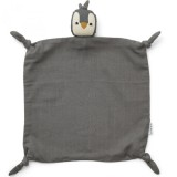 Agnete Cuddle Cloth Penguin Stone Grey