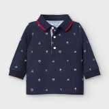 L/s Printed Polo