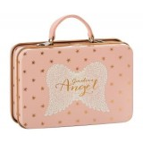 Metal Suitcase, Rose, Gold Dots